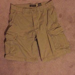Men's Beige Old Navy cargo shorts